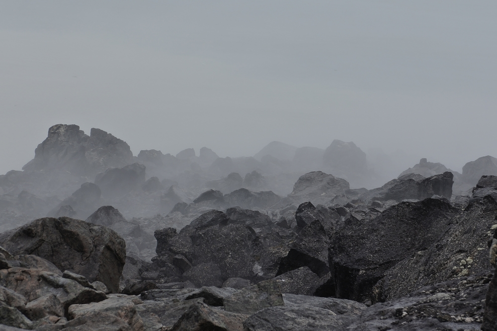 Fog in the talus