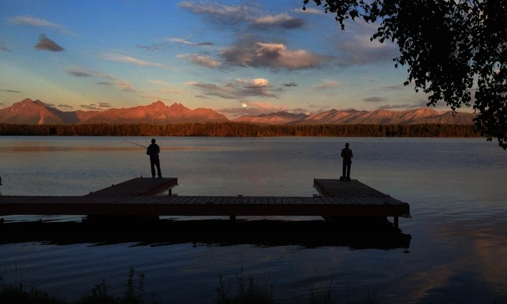 Evening fishing near Wasilla