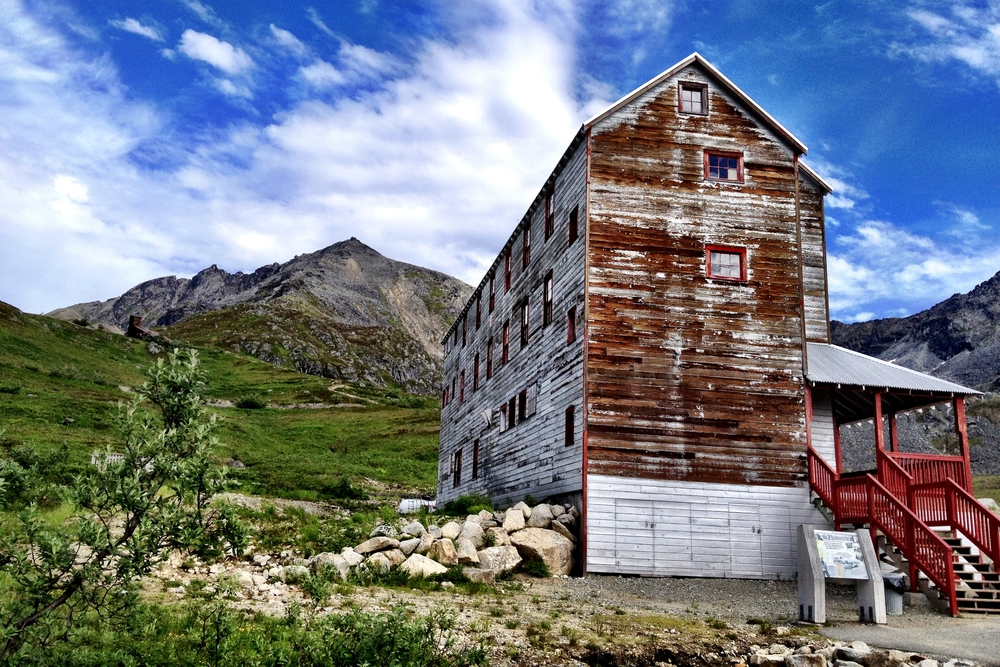 An old mining town near the boulders at Hatcher Pass.
