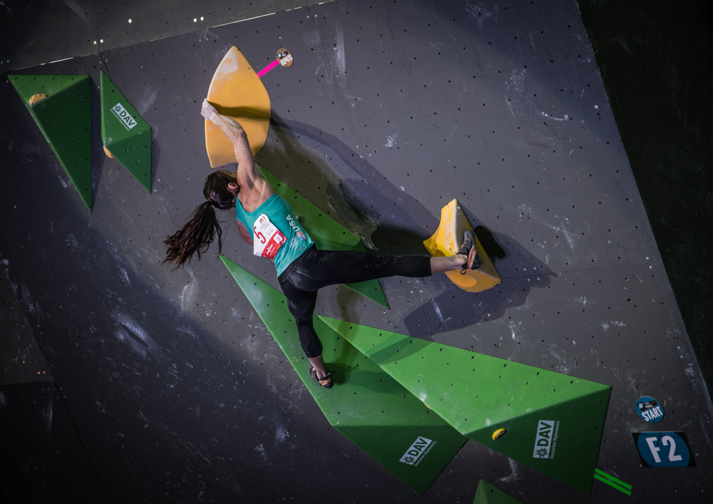 Alex Puccio on women's final 2 at World Championships.
