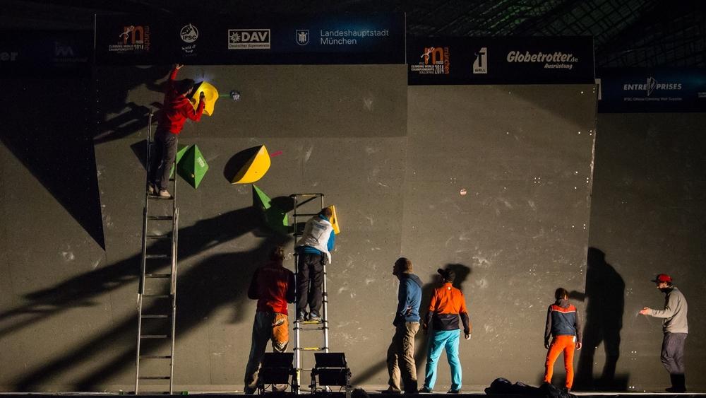 Erasing the boulder problems at World Championships.