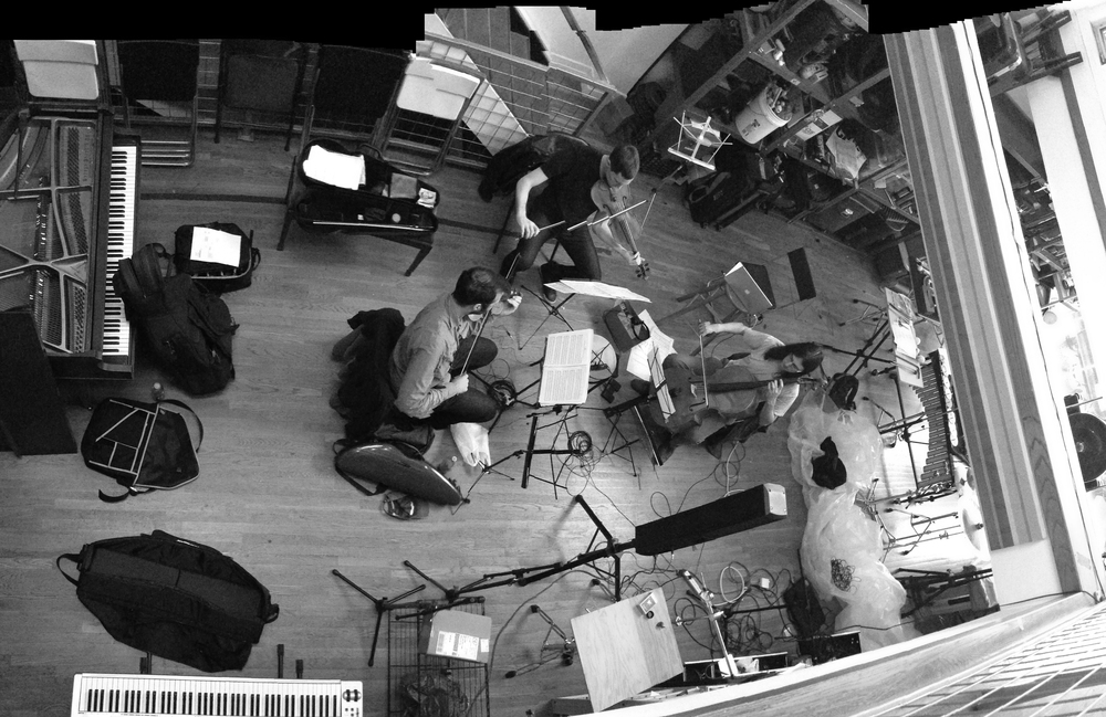 Rehearsing  When I Dream  with ICE at ICEHaus. Brooklyn, 2013.