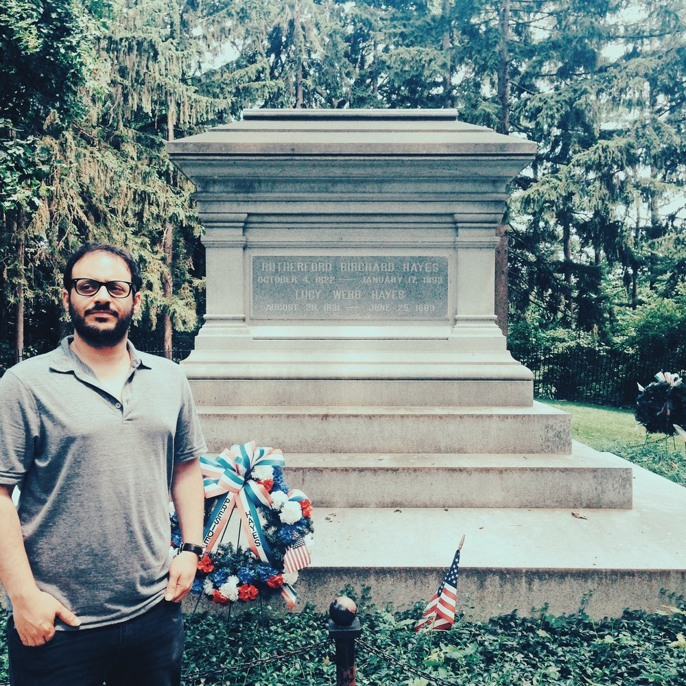 At the grave of Rutherford B. Hayes.
