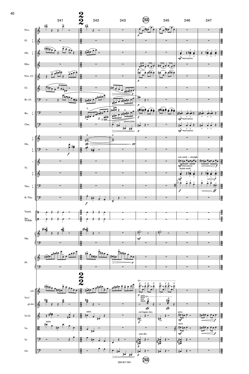 Orchestral Score Example