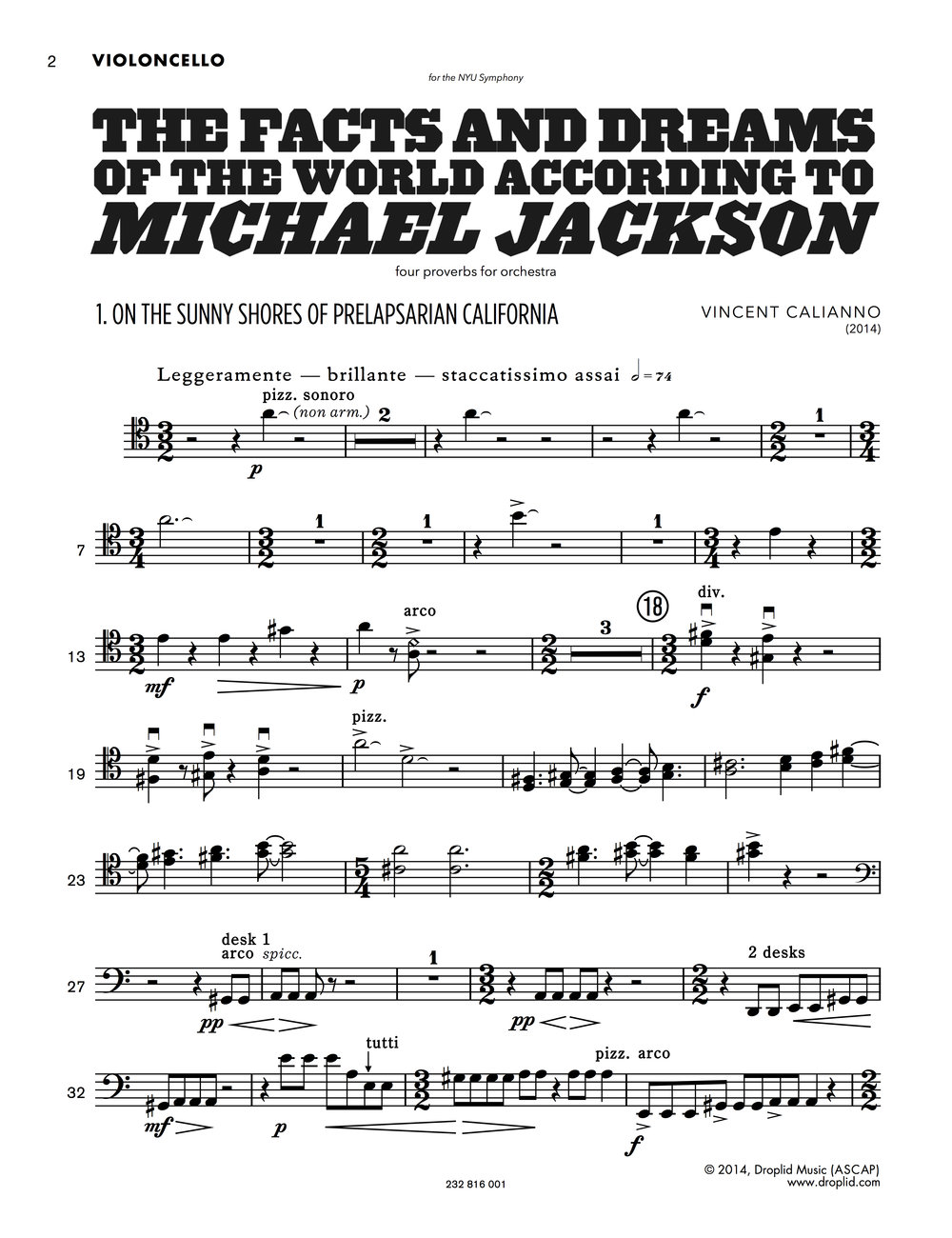Instrumental Parts Example