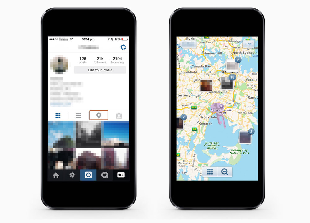How to Untag Photos on Instagrams Photo Map Step 01-03