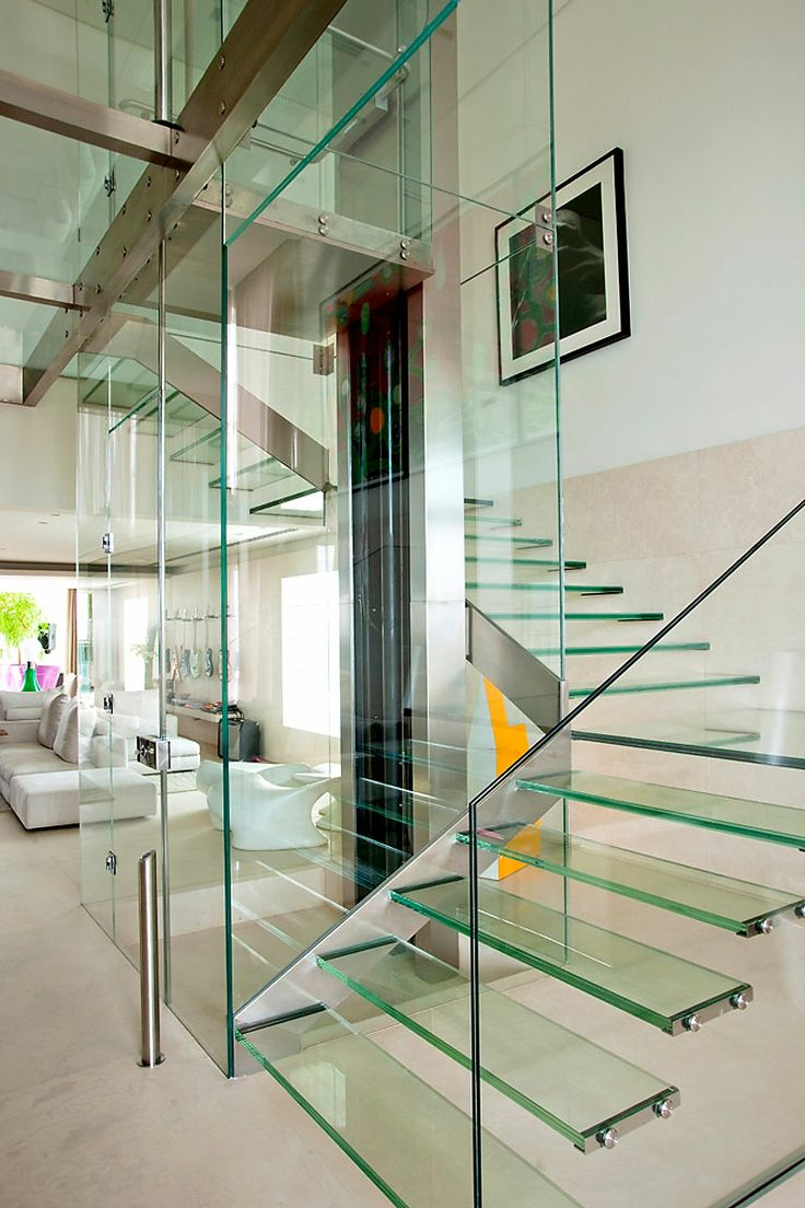 GLASS STAIRS ELEVATOR PENTHOUSE ITCHBAN.COM
