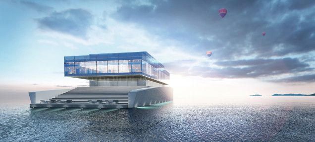 Super Yacht floating house ITCHBAN.com