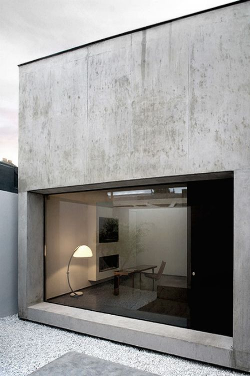 Concrete Industrial Designed House with Glass ITCHBAN.com.