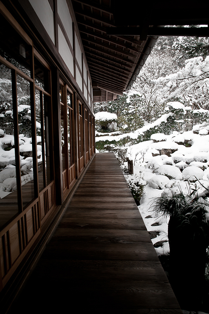 Wooden architecture in snow ITCHBAN.com