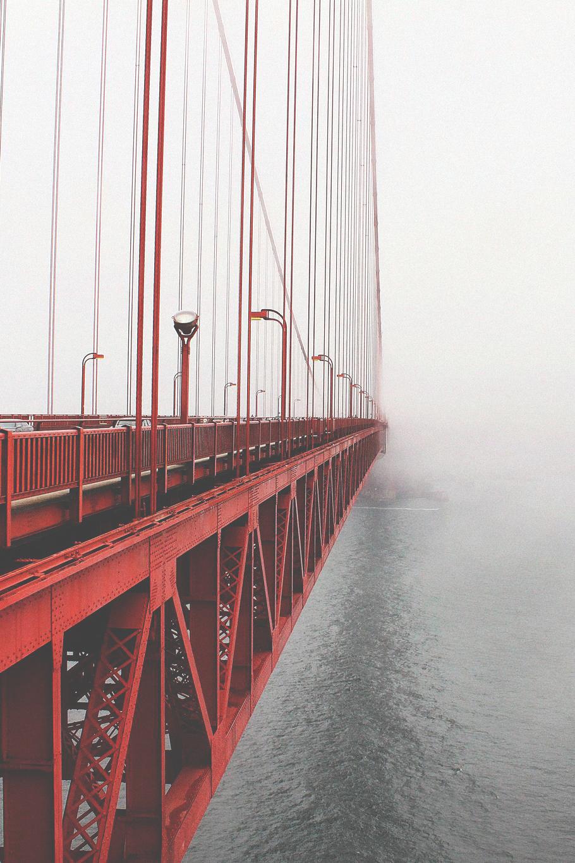 San Francsico Golden Gate Bridge Red with Fog ITCHBAN.com