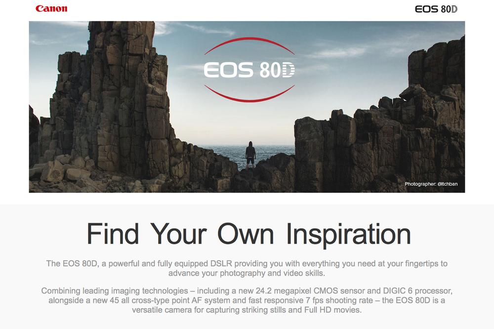 Canon 80D Campaign (AU)