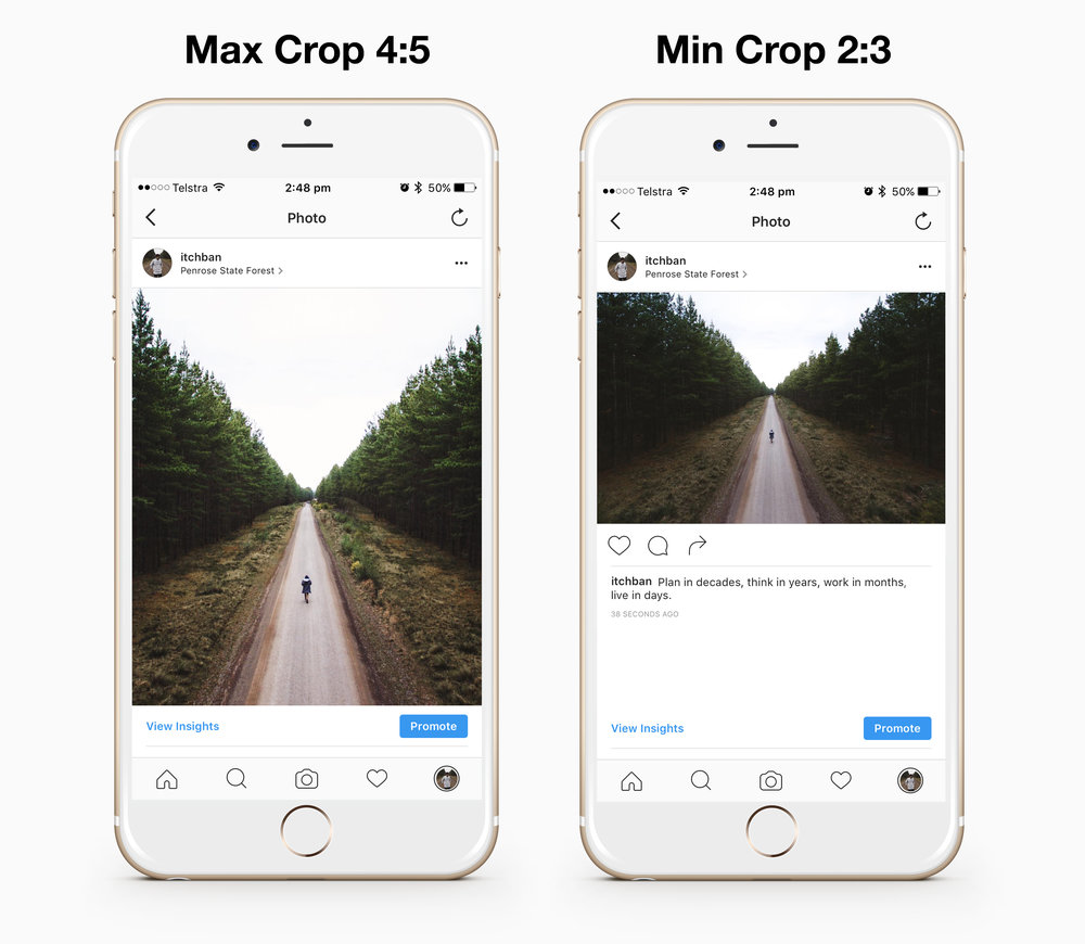 MAX INSTAGRAM CROP VS MINIMUM 4:5