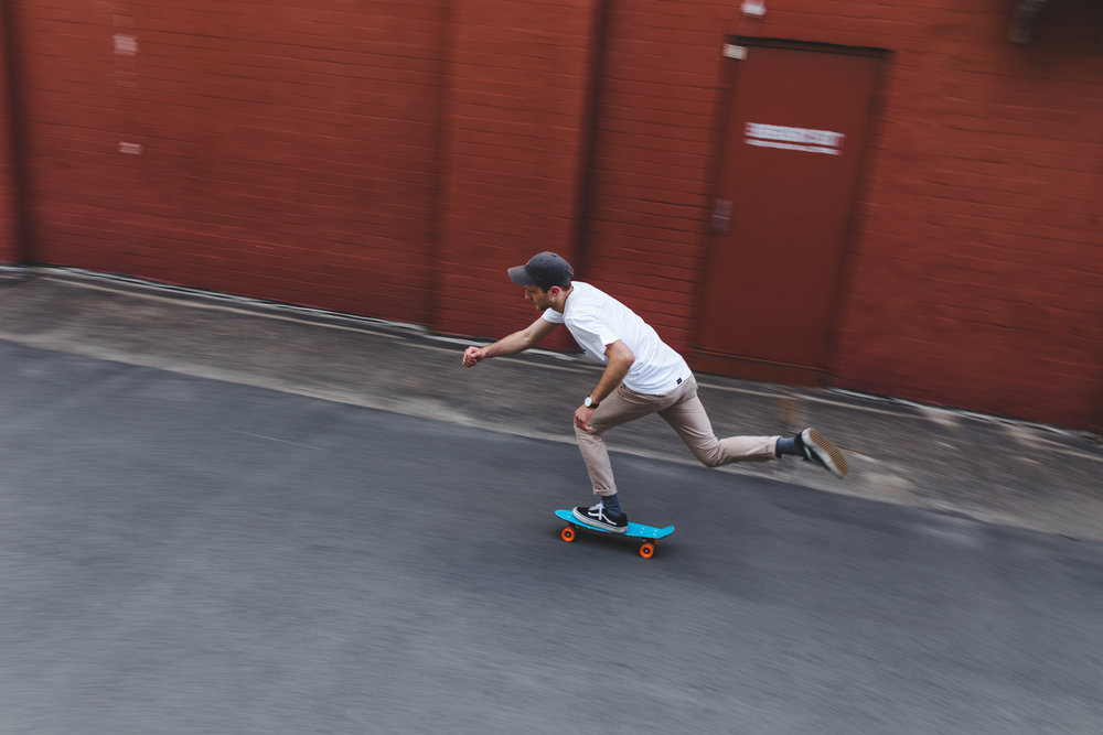 Penny Board Pan Motion Blur