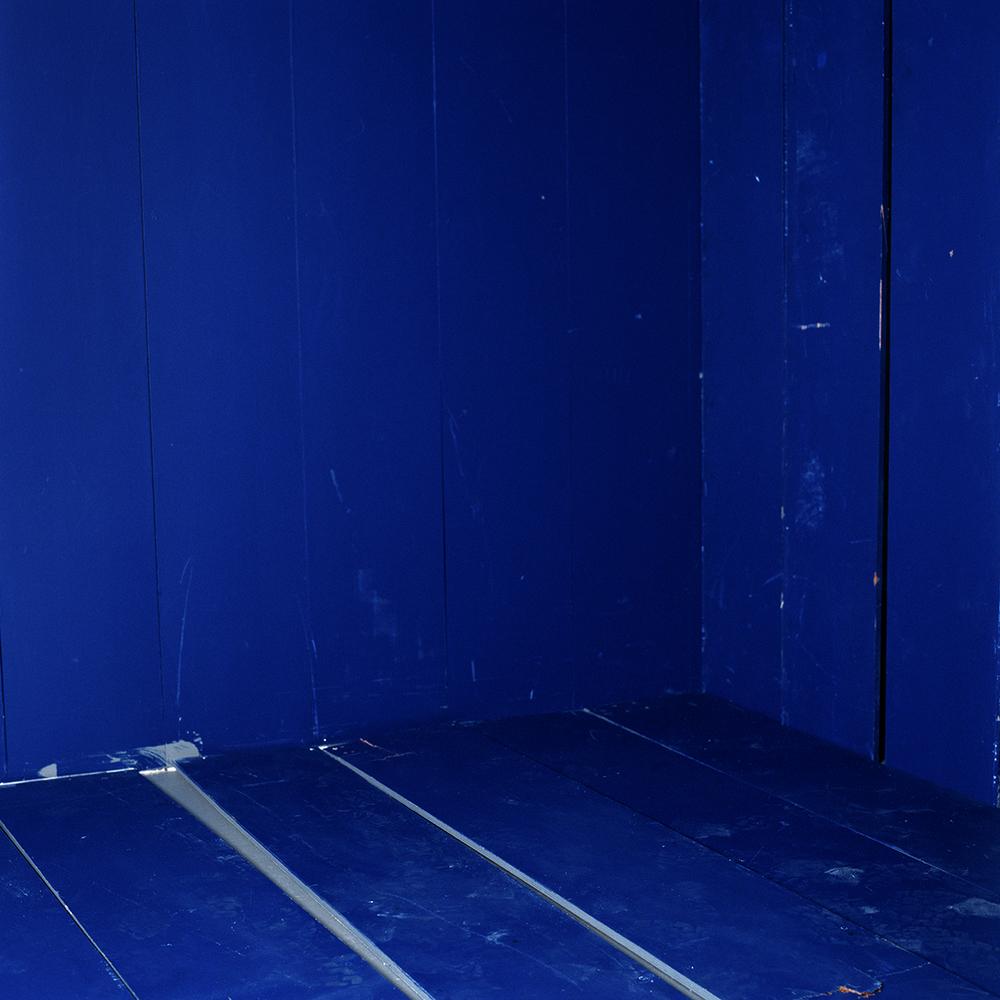 Cobalt Cube, framed lightjet print 100-100 cm edition 4 (+1ap)