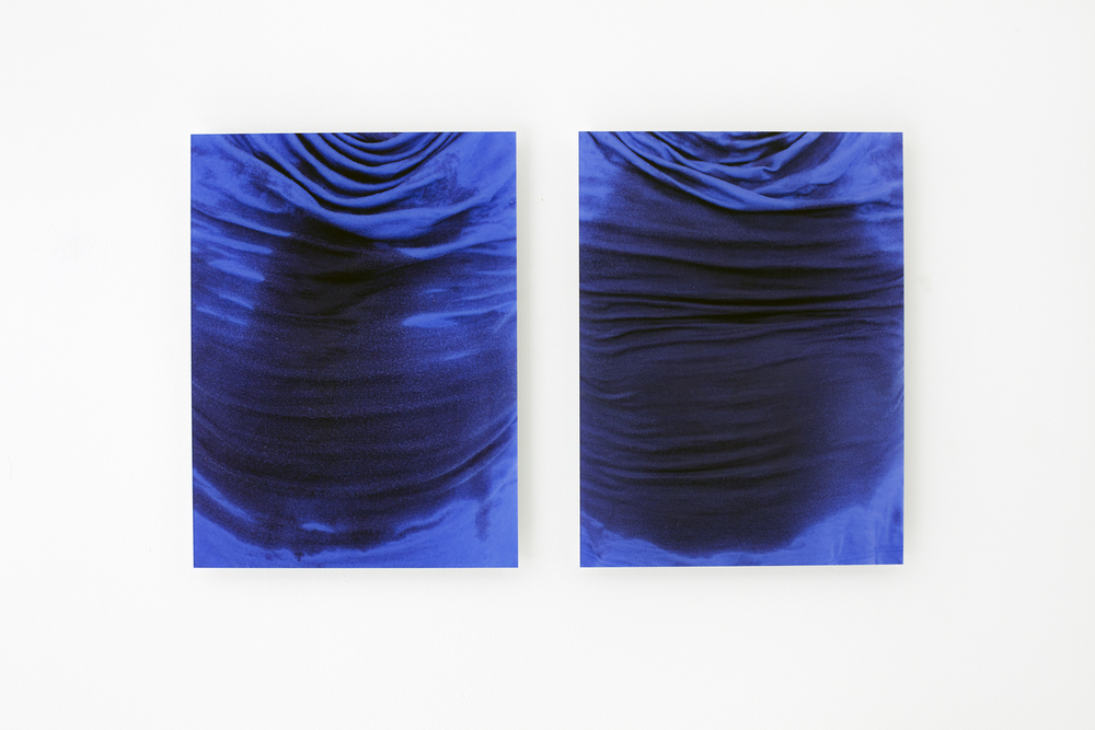 Sweat-stress (chest/blue 1 and 2), Ultrachrome prints with diasec, Edition of 4 + 2 AP, 24 x 30 cm
