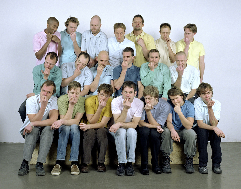 Group-portrait in polo's (men), 2007