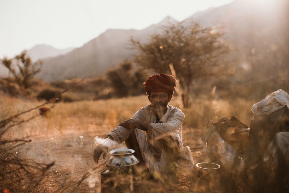 Ganesh - a Goatherd in the rural region near Ajmer, Rajasthan India