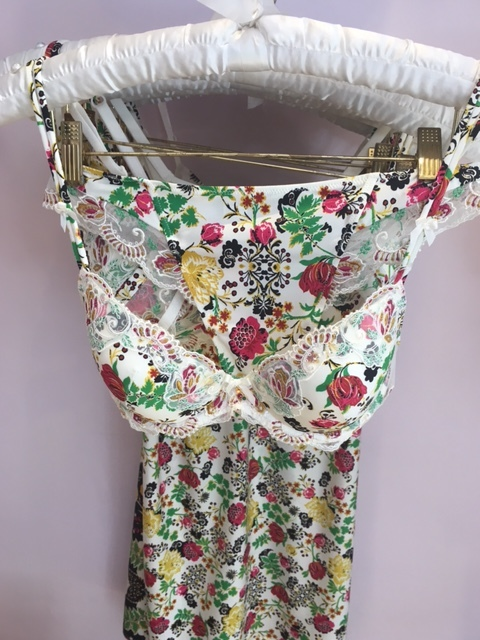 I LOVE this floral set. Just divine. It has a matching nighty too. Its wonderful for the evening but so pretty to wear in the daytime too with a summer dress.