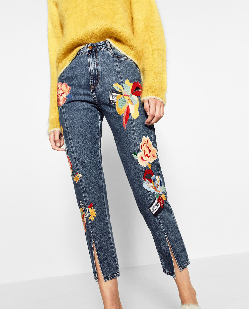 Zara Embroidered Jean