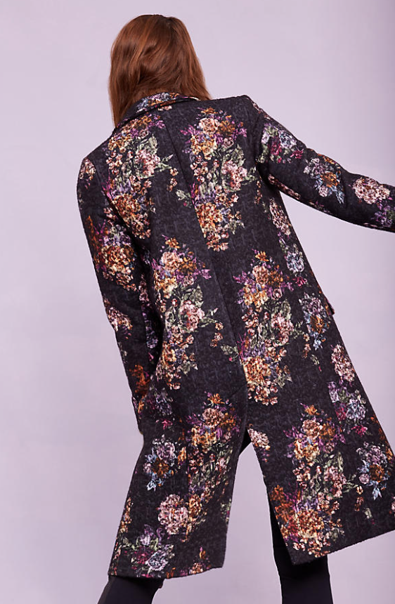 This gorgeous  Black Floral Coat  is total fantastic at £138.95 (from £278!) - love the colours and will update your blacks brilliantly. It will update you now and still look fab next Christmas.