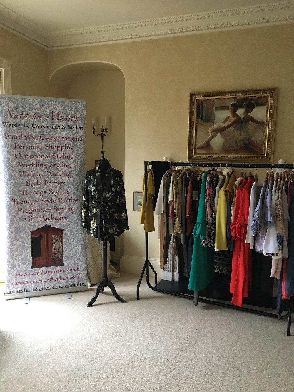 The rail of clothes for the Style Presentation