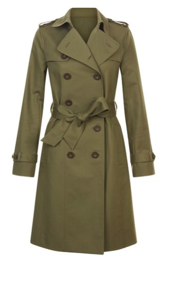 Green Saskia Trench £199