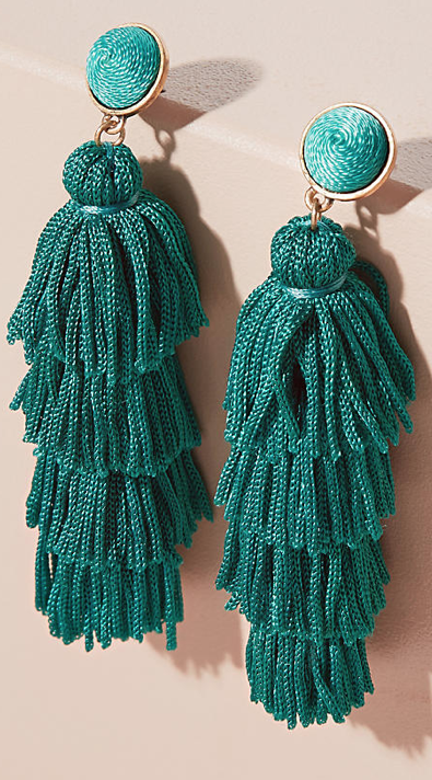 Emerald tasselled at  Anthropologie £58