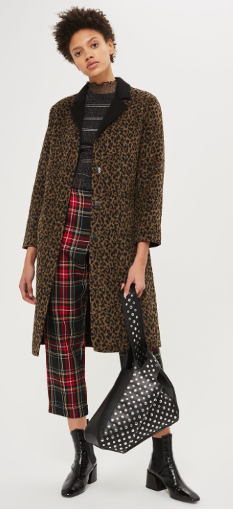 TopShop Button Seam Leopard Print Coat £55 (sale)