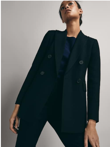 Massimo Dutti Textured Weave Slim fit Blazer £169