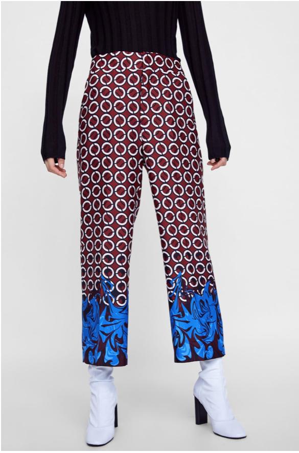Zara Geometric Print Trousers £39
