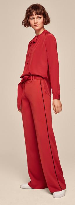 Me & Em wide leg trouser £169    Pussy bow silk blouse £189