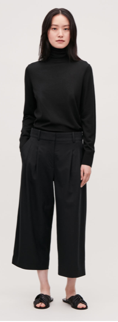 Cos Flannel wide black trousers £79
