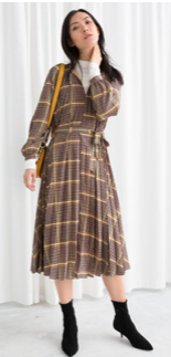 & Other Stories Pleated Dress £79
