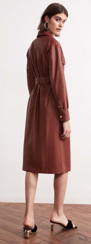 Kitri Vegan Leather Dress £165