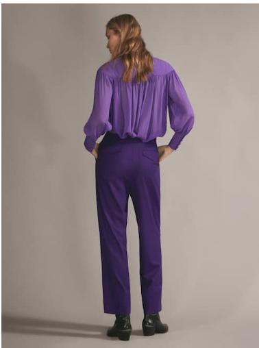 Massimo Dutti Purple wool Trousers £119