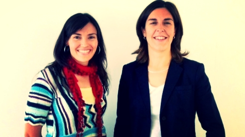 Concepción Padilla and her director of studies Pilar Andrés