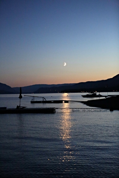 Shuswap Lake by night.