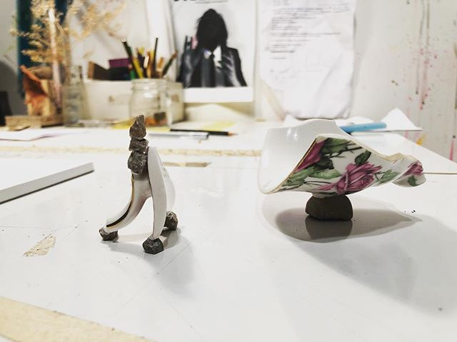 """""""I will not let your entangled words scare away my desires"""", small sculpture #situations #jaša"""