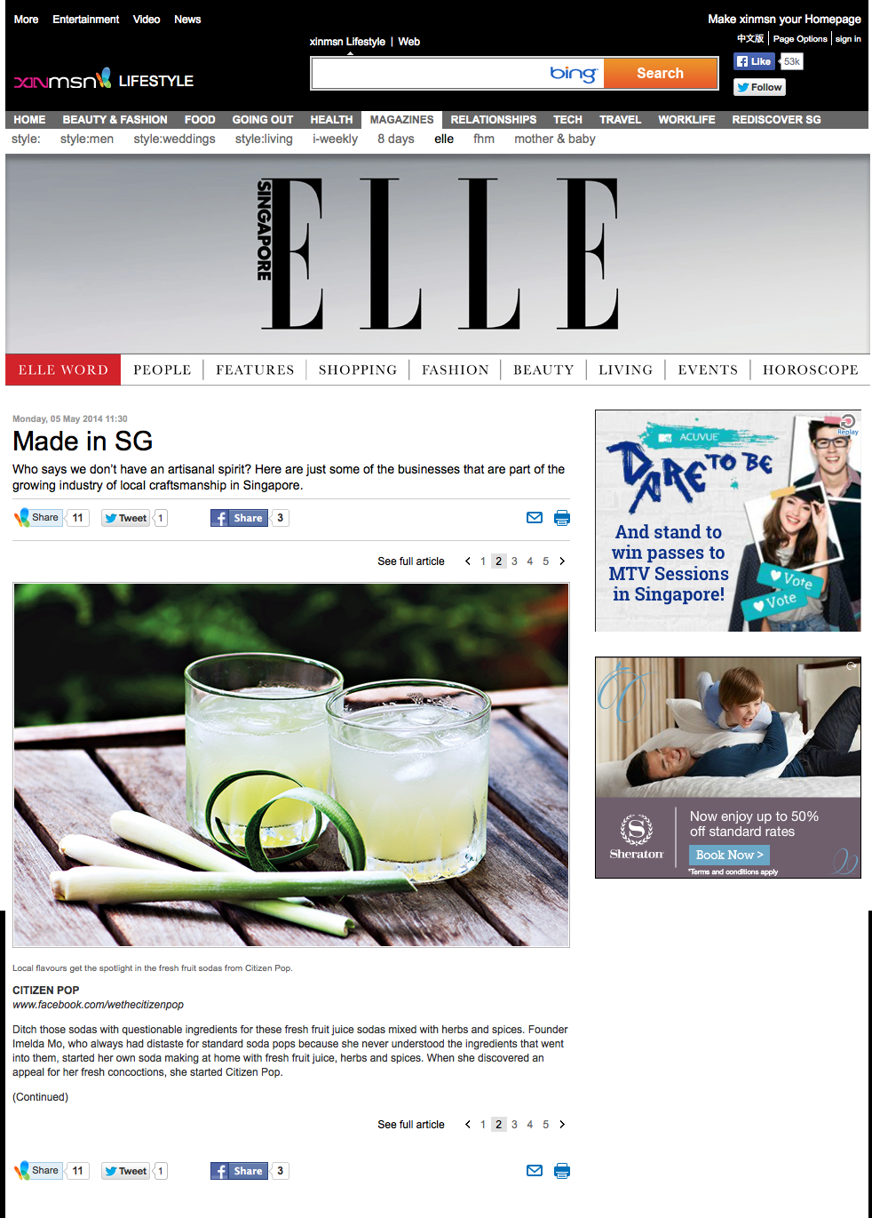 Elle on XinMsn - 5 May