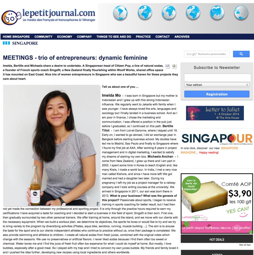 Lepetitjournal.com - Female Entrepreneurs    9 Sept