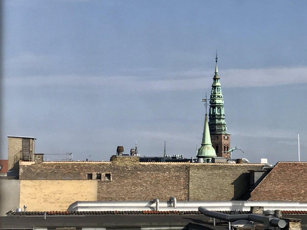 København set fra Rundetårn - en forårsdag 2017.
