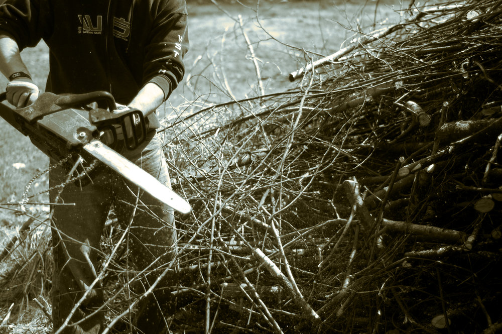 """Chainsaws are my Life"" by Fox / This image, like all images on this site, is licensed under a Creative Commons Attribution 4.0 International License."