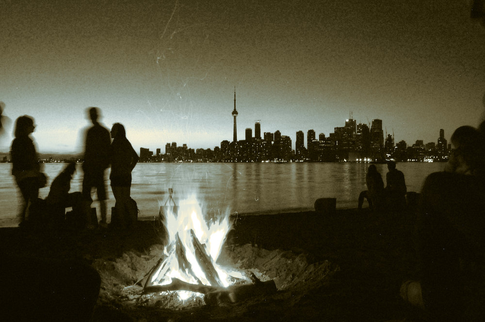 """""""Island camp fire"""" by Eric Sehr, edited by A. Malcolm"""