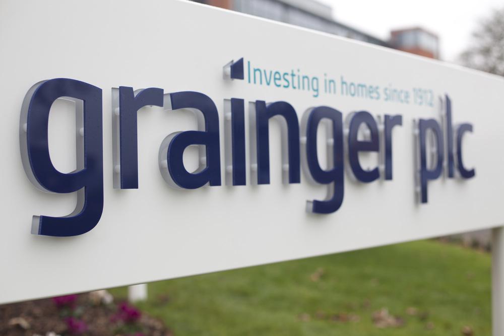 Grainger Plc Signage design by Bolter Design