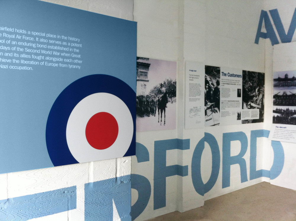 Bolter Design exhibition design for Tempsford Airfield