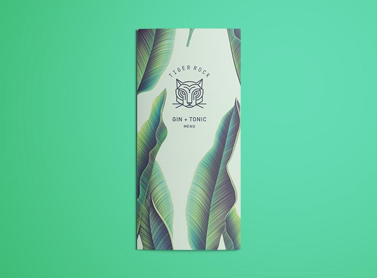 Bolter Design menu design for Fever Tree