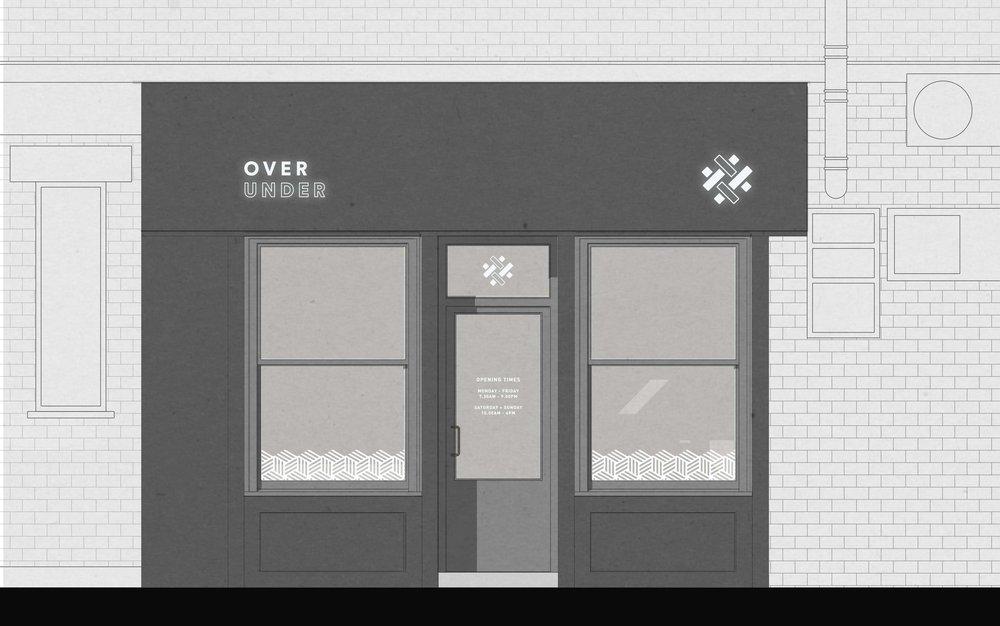 Bolter design shop front design for Over Under