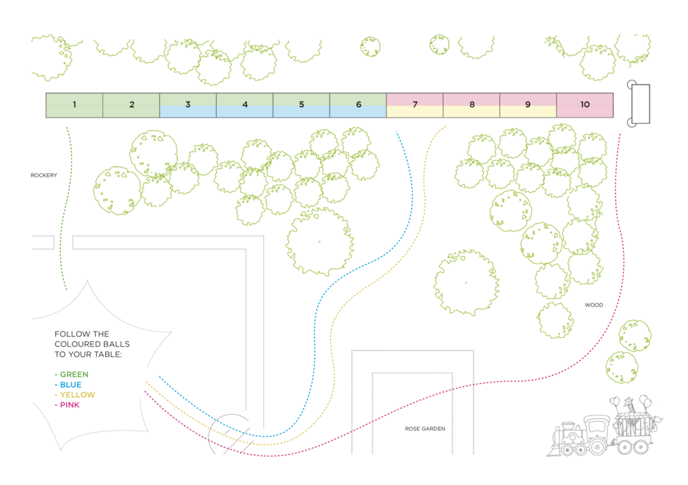 Bolter Design seating plan for Woodland Dining