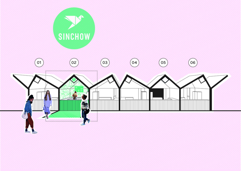 Bolter Design pop up restaurant design for Sinchow
